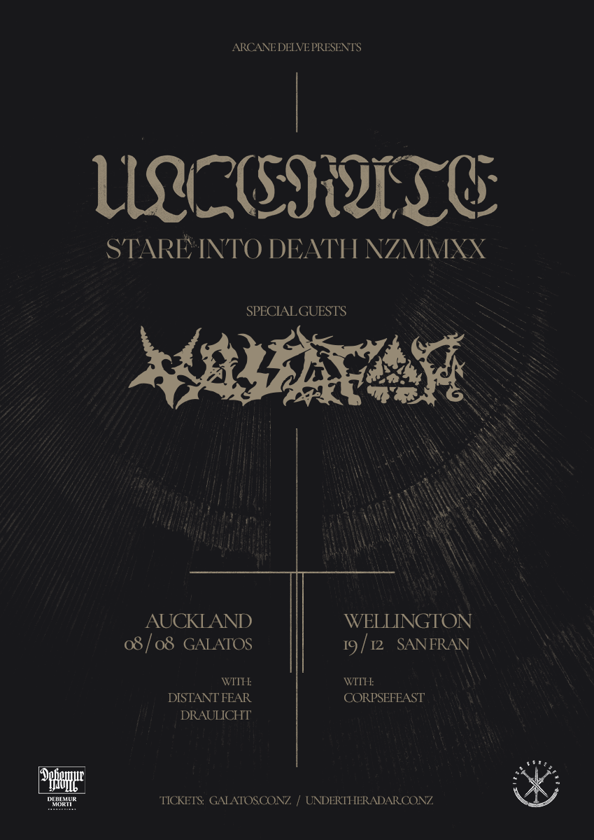 Ulcerate Stare Into Death NZMMXX tour